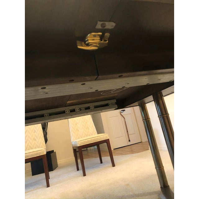 Mastercraft Burl Wood and Brass Dining Table For Sale In Tampa - Image 6 of 9