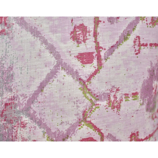 Pink TylerGraphic Hand Blocked Square Down/Feather Pillow For Sale - Image 8 of 10