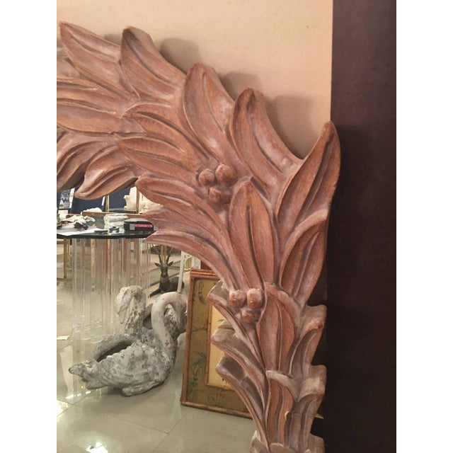 Vintage Palm Frond Wall Mirror - Image 7 of 9