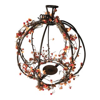 Metal Pumpkin Centerpiece For Sale