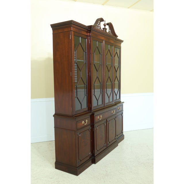 Kittinger Richmond Hill Collection Mahogany Breakfront For Sale - Image 9 of 13