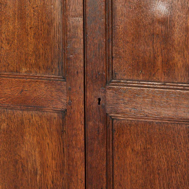 Oak Hall Cupboard on Stand For Sale - Image 4 of 6