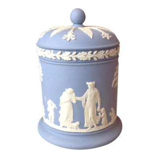 Vintage Wedgwood Cigarette Jar With Lid