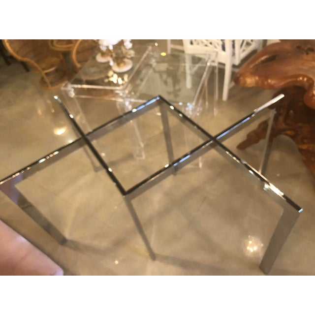 Vintage Milo Baughman Thayer Coggin Chrome Dining Table For Sale - Image 5 of 11