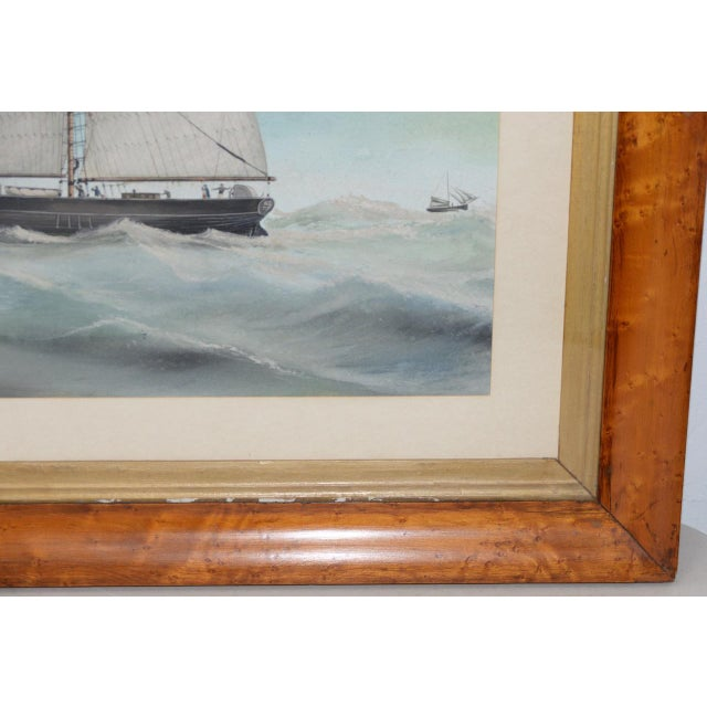 """Original Watercolor of the British Ship """"Kate"""" Out at Sea C.1890s to 1910 For Sale - Image 4 of 11"""