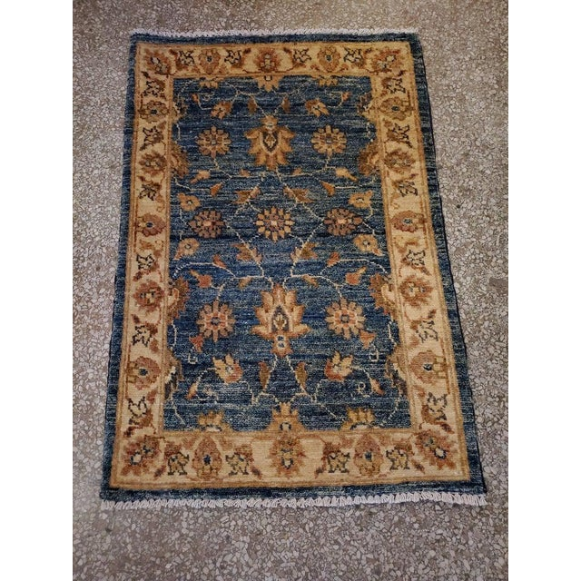 "Afghan Floral Rug-2'x3"" For Sale In Orlando - Image 6 of 7"