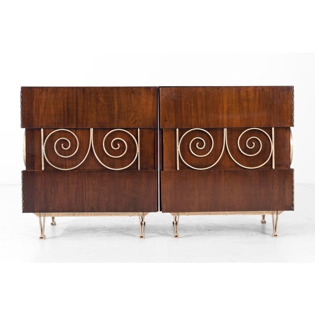 Edmund Spence Pair of End Tables or Nightstands For Sale - Image 9 of 11