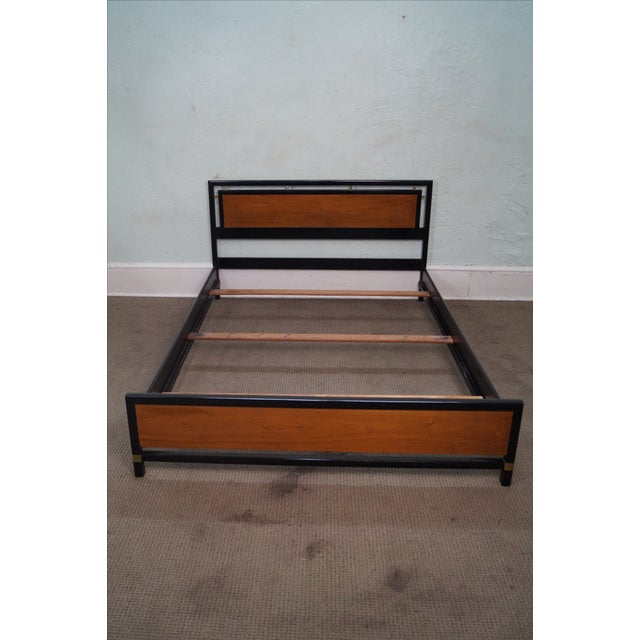 Tung Si Collection Ebonized Black & Teak Full Bed - Image 2 of 10