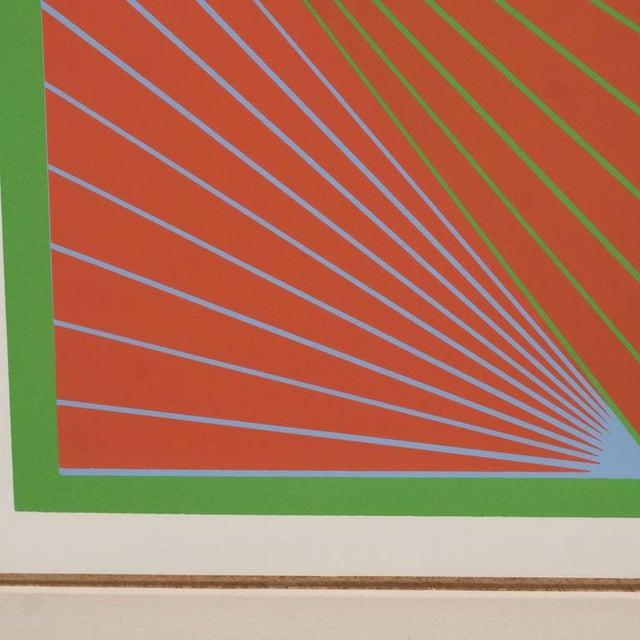 "1960s Richard Anuszkiewicz ""Diamond Chroma"" Screenprint in Colors, 1965 For Sale - Image 5 of 10"