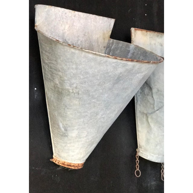 Vintage French Zinc Harvest Bins - A Pair - Image 7 of 8