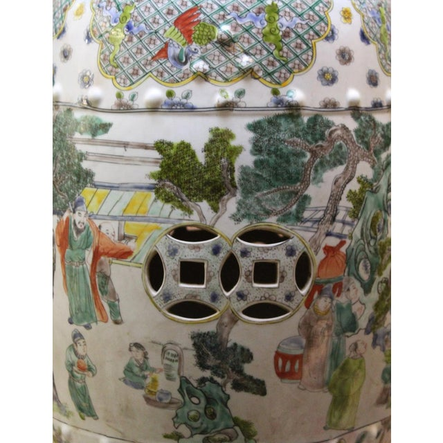 Chinese Porcelain Garden Stool with Scenery - Image 6 of 10