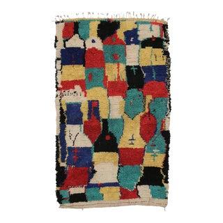 Vintage Berber Moroccan Azilal Rug - 04'06 X 07'00 For Sale