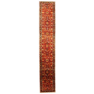 Traditional Pasargad N Y Fine Serapi Design Hand-Knotted Rug - 3' X 17'3'