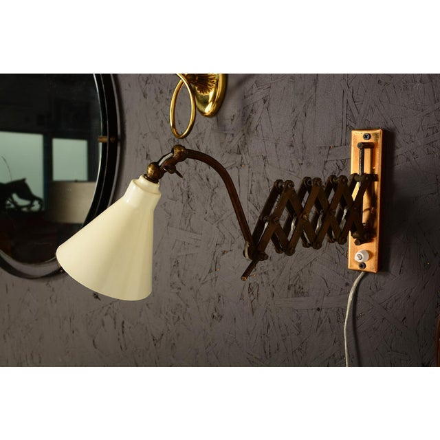 Aluminum Mid-Century Modern Italian Scissor Wall Sconce For Sale - Image 7 of 11
