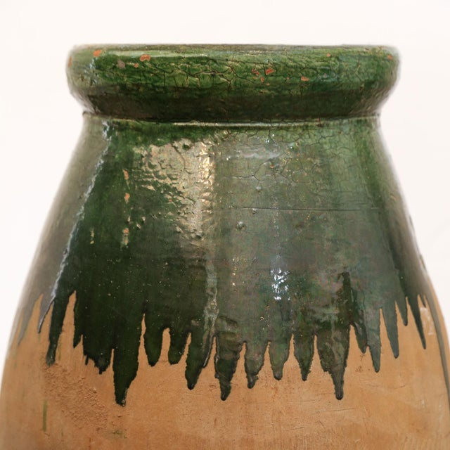 Green Glaze Terracotta Jar For Sale In Houston - Image 6 of 9