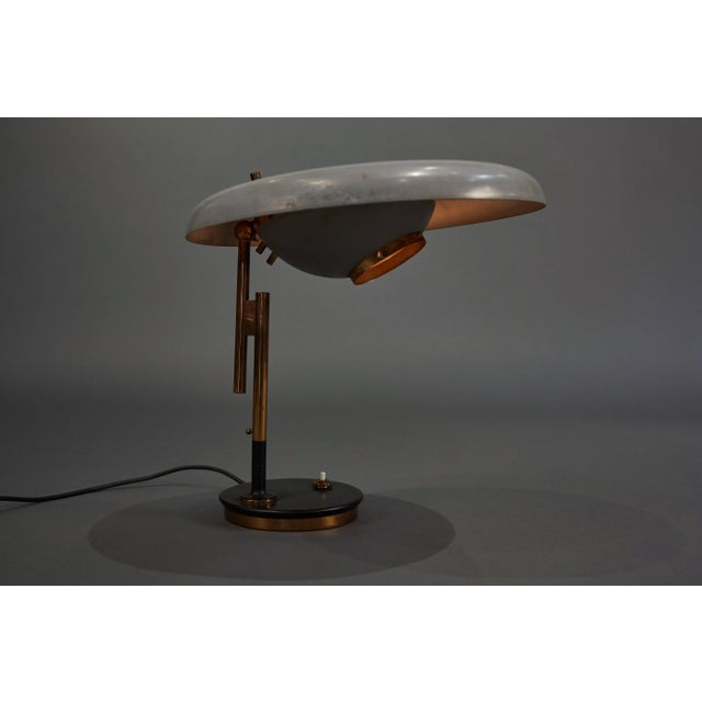 Mid-Century Modern Adjustable Oscar Torlasco Table Lamp for Lumi For Sale - Image 3 of 11