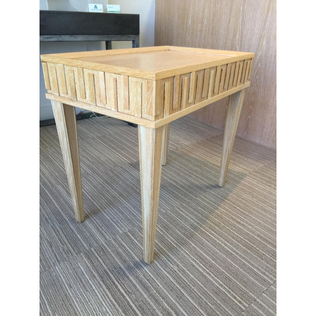 Arteriors Home Contemporary Arteriors Home Limed Oak End Table For Sale - Image 4 of 4