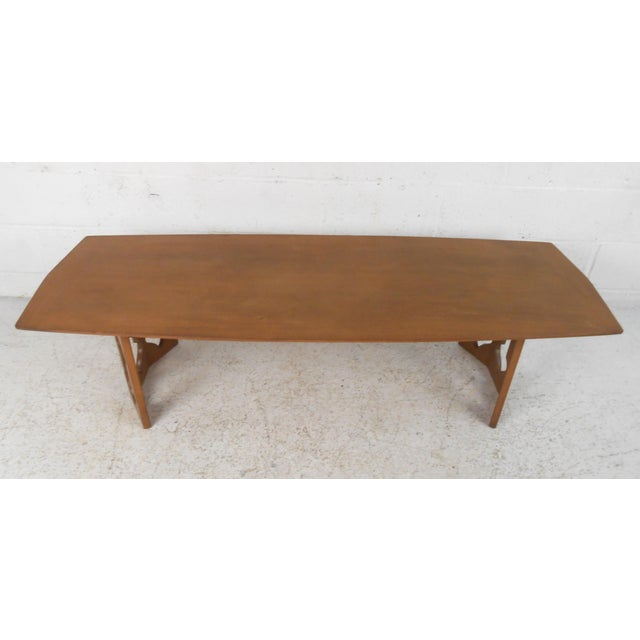 1970s Vintage Modern Coffee Table With Sculptural Base For Sale - Image 5 of 13