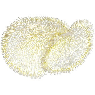 White and Gold Iron Coral Wall Sculpture by Fabio Ltd For Sale