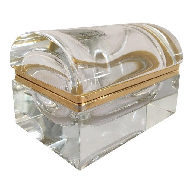 Vintage Murano Glass Box- Mandruzzato For Sale