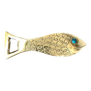 Brass Fish Bottle Opener For Sale