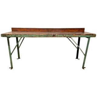 20th Century Industrial Workbench or Console For Sale
