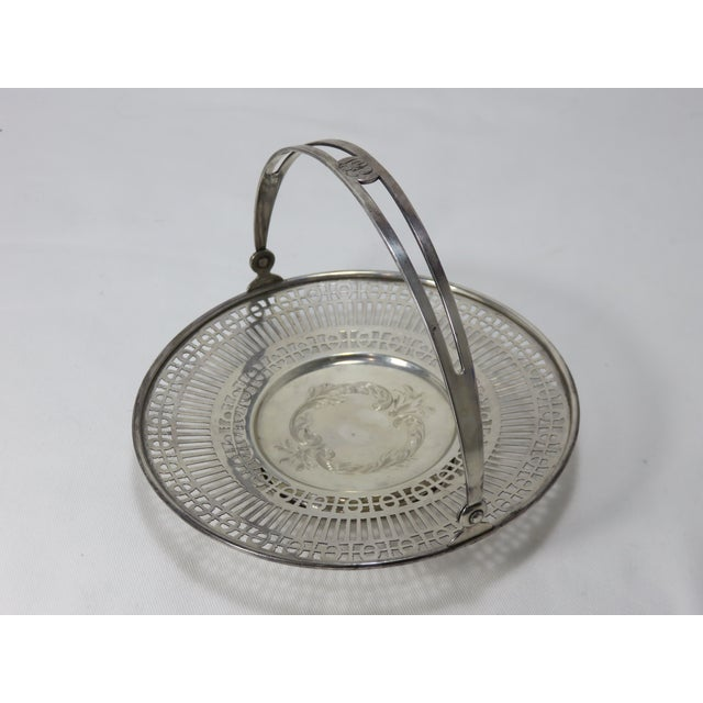 Antique Sterling Silver Mint - Candy Serving Basket For Sale - Image 10 of 12