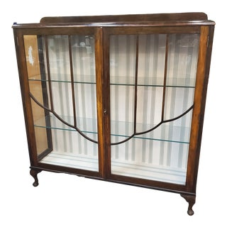 Antique Mahogany Display Cabinet For Sale