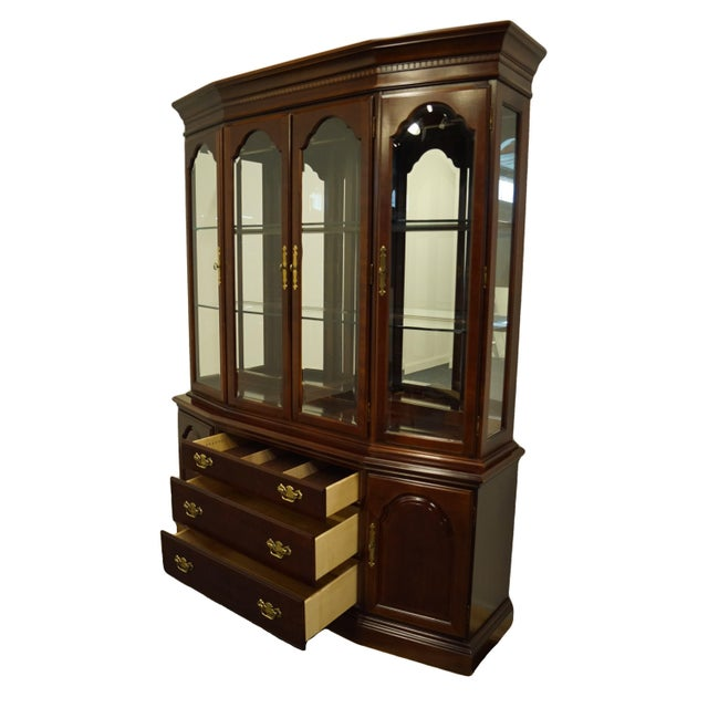 Wood Bernhardt Furniture Traditional Solid Cherry China Cabinet For Sale - Image 7 of 12