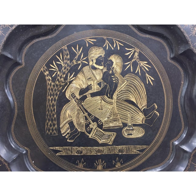 Vintage Indian Etched Charger For Sale In Raleigh - Image 6 of 9