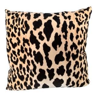 Velvet Leopard Print Pillows For Sale