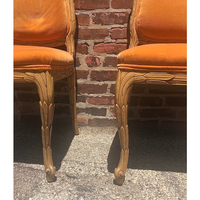 Carved Palm Beach Style Dining Side Chairs- a Pair For Sale In Chicago - Image 6 of 13