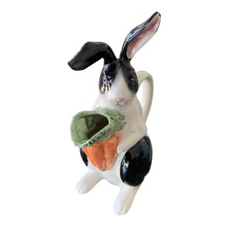 1987 Fitz and Floyd Bunny Rabbit Pitcher For Sale