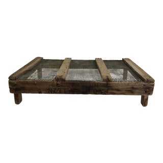 Rustic Belgian Tulip Tray For Sale