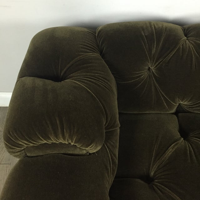 Tufted Green Mohair Sofa - Image 6 of 11