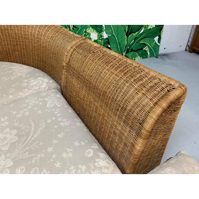 Large Sculptural Wicker Sectional Sofa For Sale - Image 6 of 13