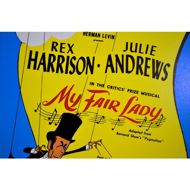 Original My Fair Lady Theatre window card with artwork by Al Hirschfeld. This card depicts the original Broadway cast of...