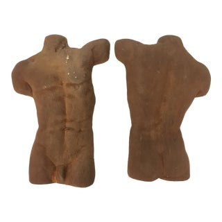 Two Piece Male Form Figurative Sculpture For Sale