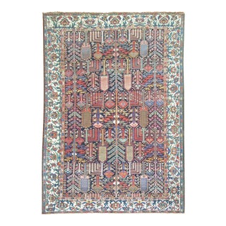 Antique Tree of Life Persian Bakhtiari Rug, 7'3'' X 10'3'' For Sale