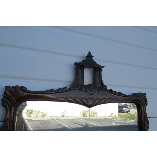 Chippendale Ball and Claw Feet Flame Mahogany Vanity Table and Mirror For Sale - Image 9 of 13