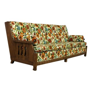 Ranch Oak Western Style Sofa Attributed to A. Brandt Company For Sale