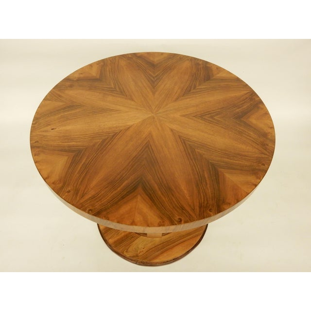 Beautifully restored 1930's walnut Northern European round side table