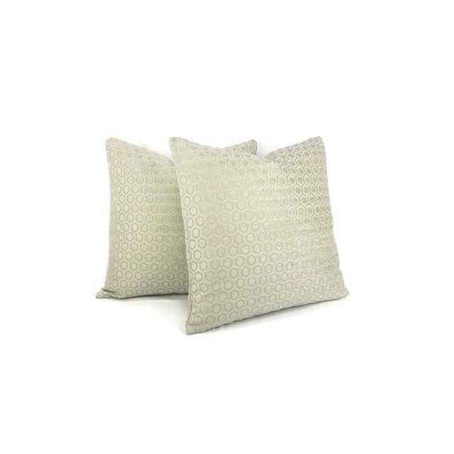 Contemporary Jim Thompson Intara Seafoam Light Sage Chenille Pillow Cover For Sale - Image 3 of 7
