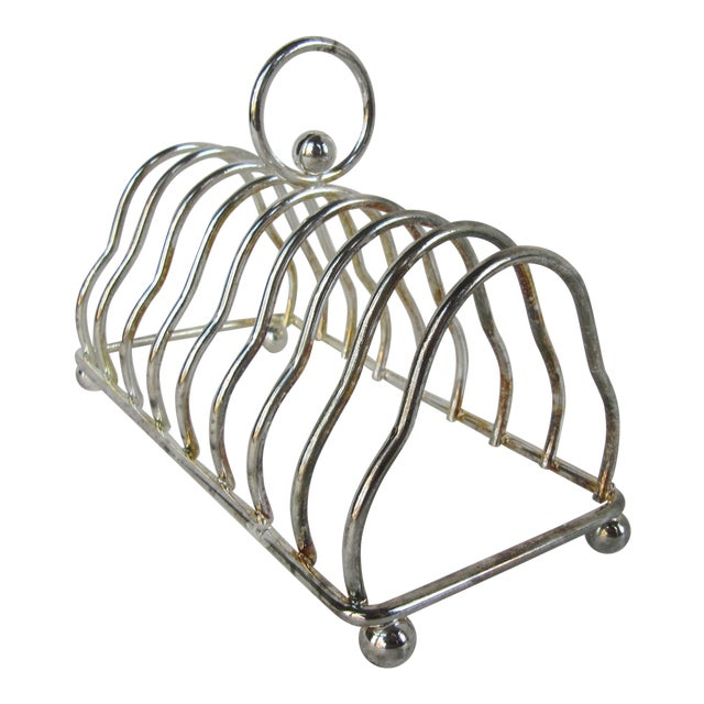 Vintage Silver-Plate 8 Slot Toast Rack For Sale