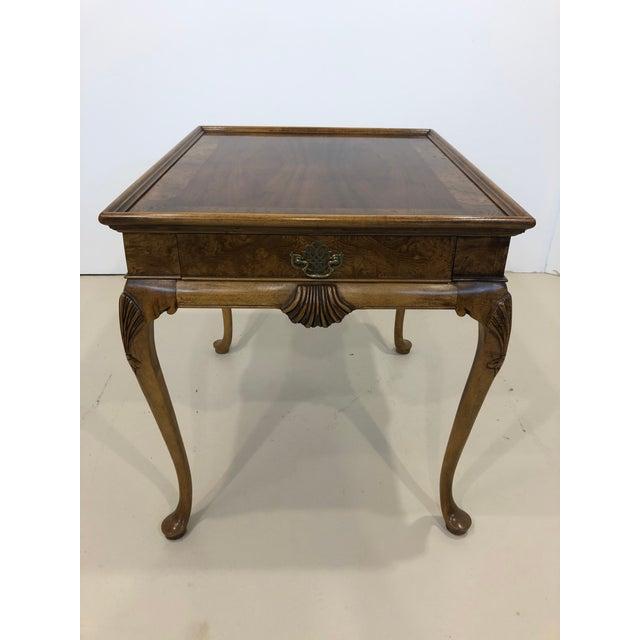 Vintage Baker Furniture Mahogany Side Table For Sale - Image 10 of 10