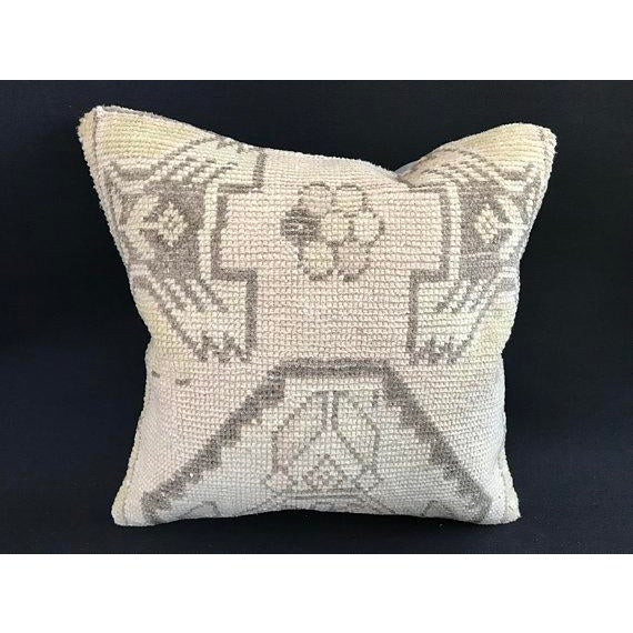 1960's Oushak Antique Hanmade Pillow Case For Sale - Image 11 of 11