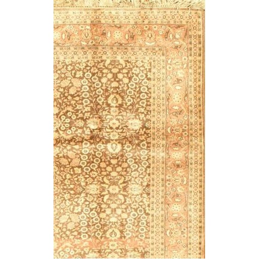 Fine Semi-Antique hand-knotted rug showing a Herati design. Made with Lamb's wool pile on a Cotton Foundation. Hand-...