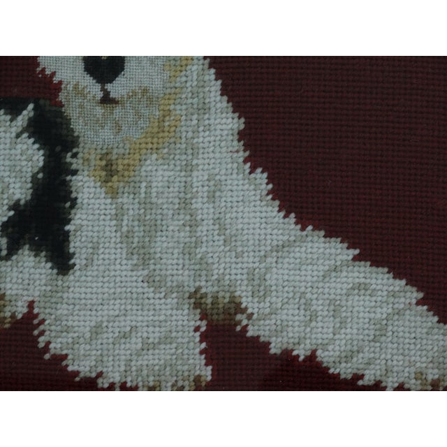 Antique Black Forest Framed English Terrier Dog Needlepoint - Image 5 of 7