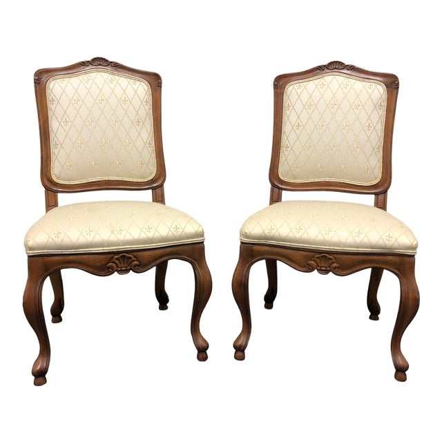 Baker French Country Dining Side Chairs - Pair 1 For Sale