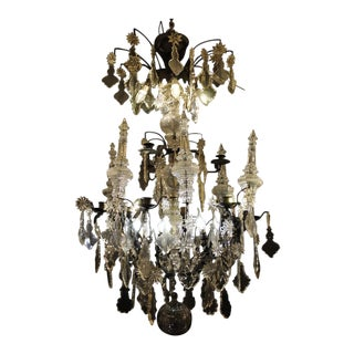 Late 18th Century Glass Pendant Chandelier For Sale